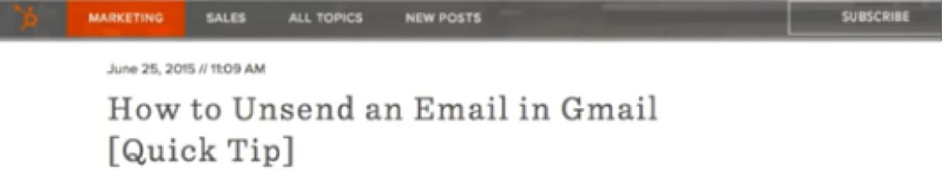 "Blog headline with ""quick tip"" format"
