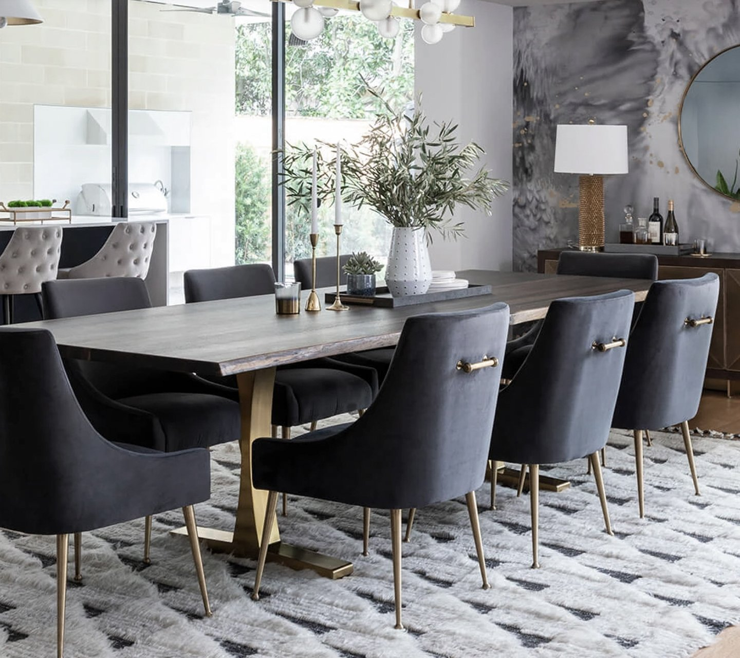 High Fashion Home dining area