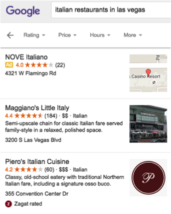 google italian restaurants in las vegas search local finder ad