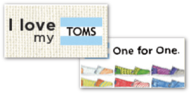 Ads for TOMS.