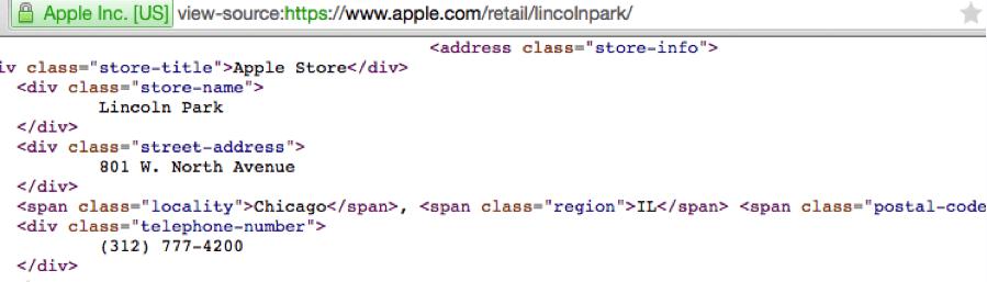 apple website code