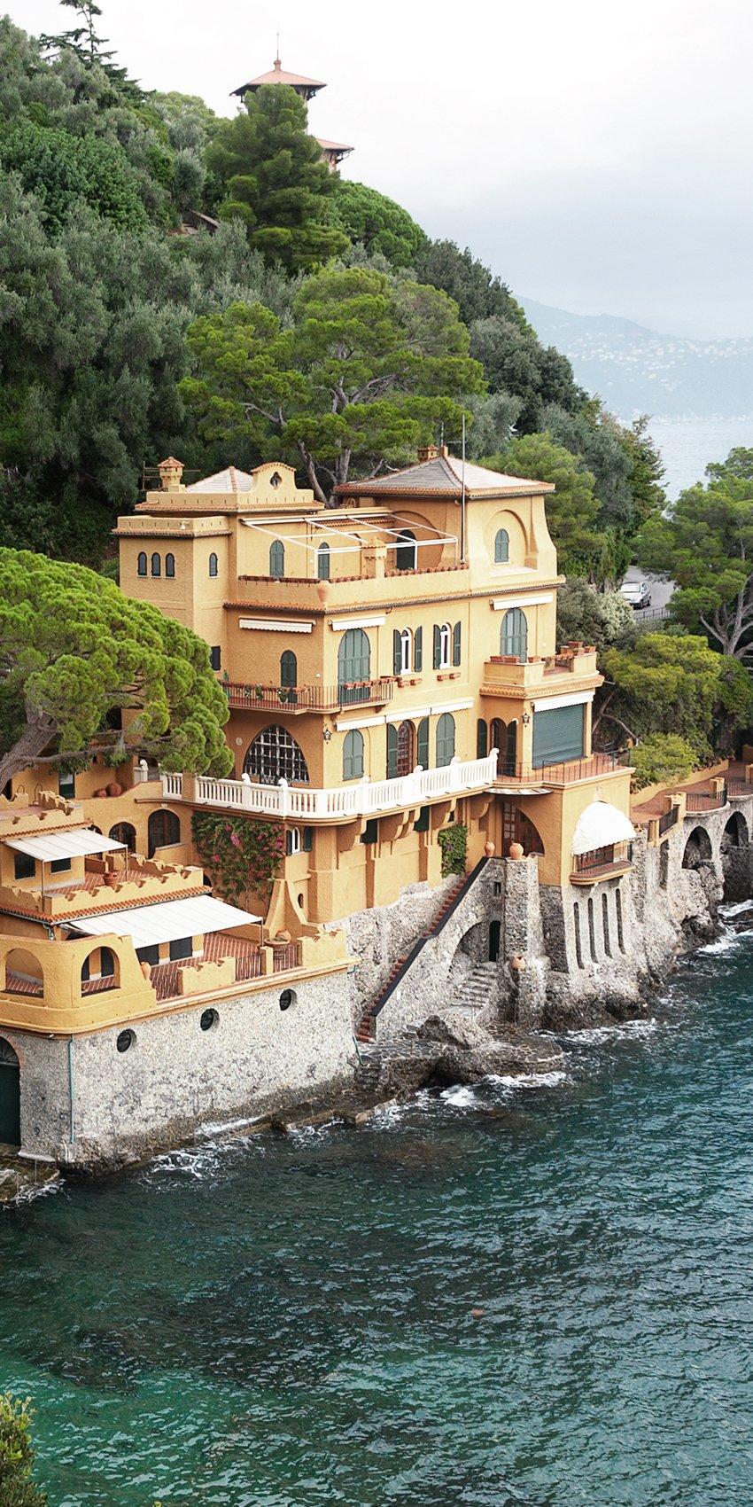 italian mansion on beach