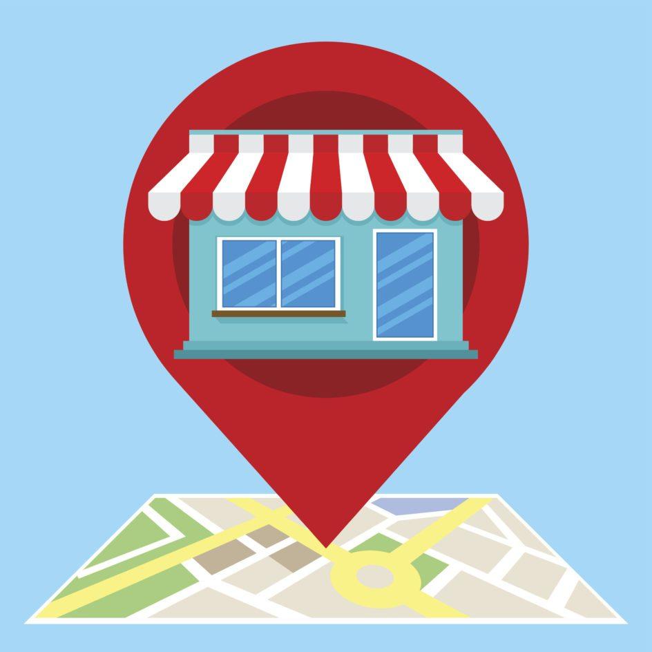 Illustration of local storefront