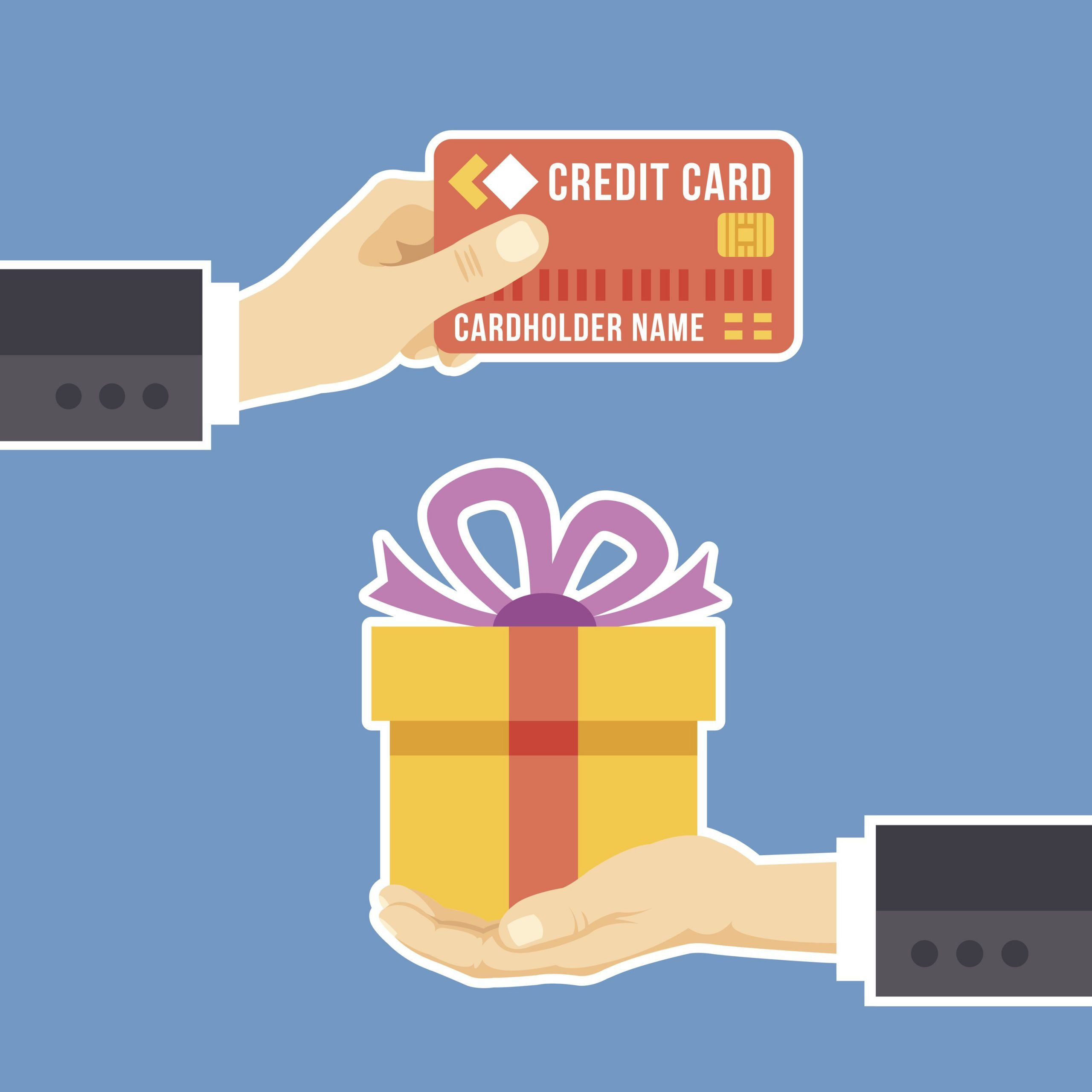 illustration of credit card and gift