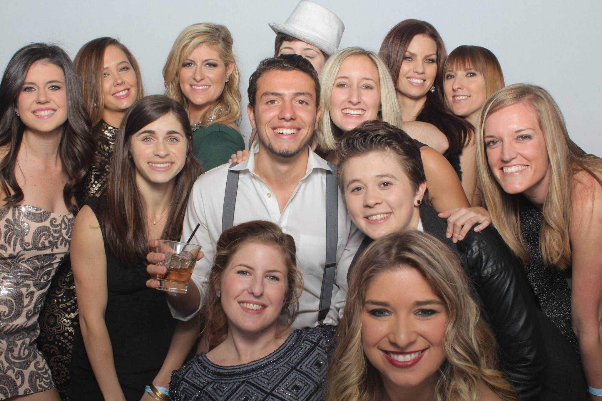 marketing team photo from holiday party