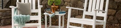 Polywood chairs on outdoor patio