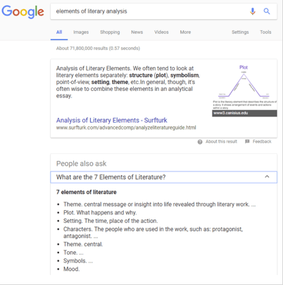 Google No-Click Search Example