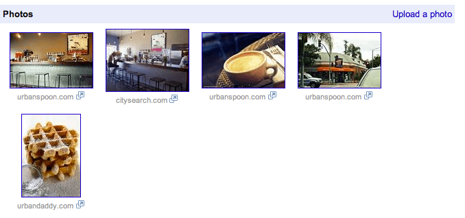 restaurant photos uploaded to Google