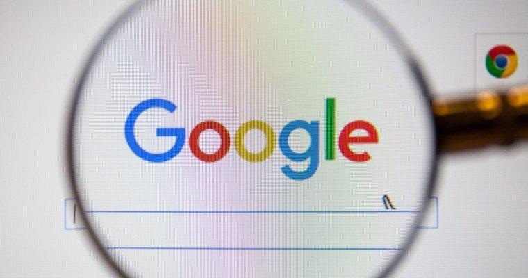 google logo under microscope