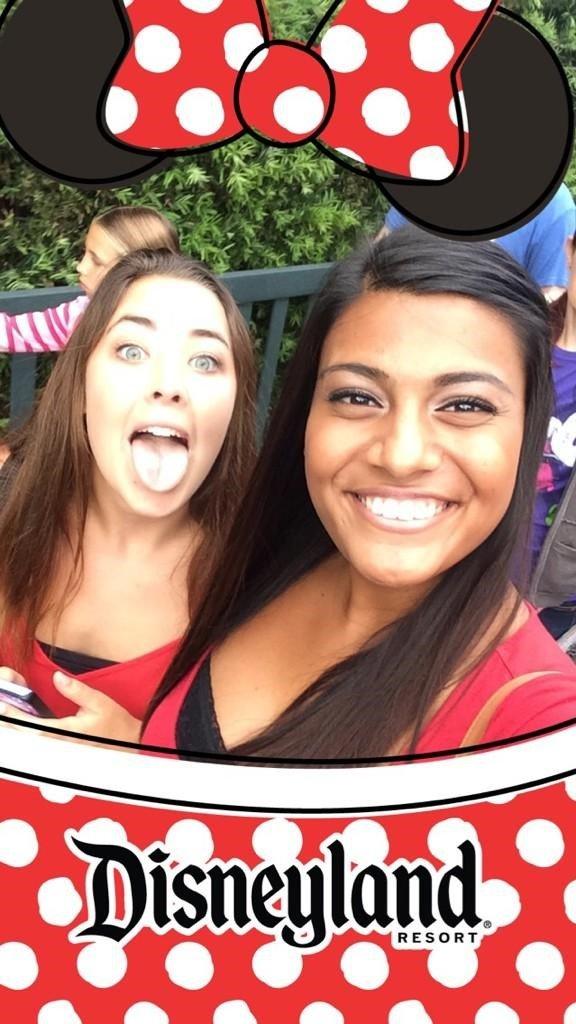 Snapchat photo with Disneyland geofilter
