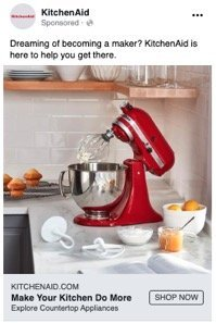 KitchenAid facebook ad