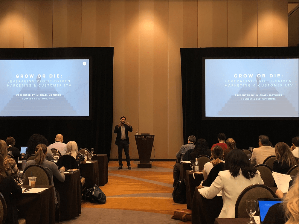 Presenting at a large conference