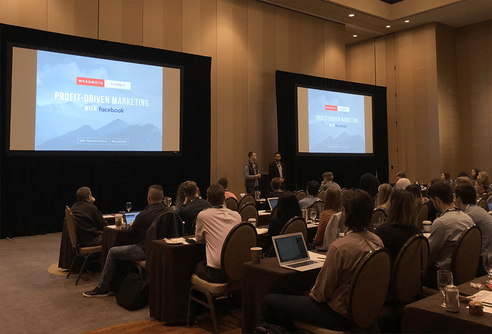 profit driven marketing with facebook presentation at summit