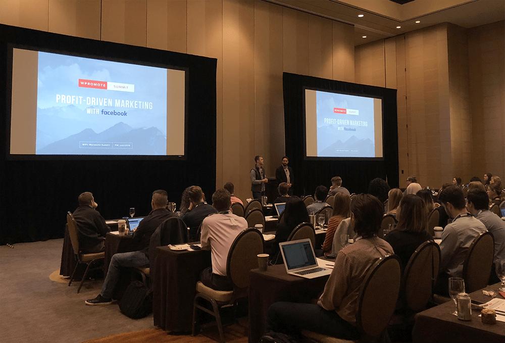 profit driven marketing with facebook presentation at summit