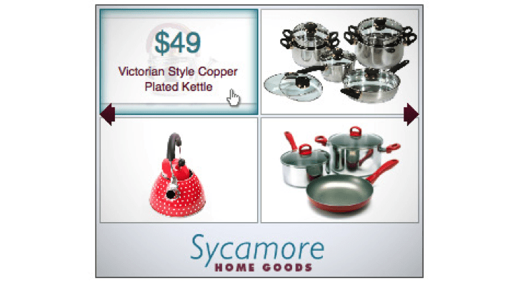 sycamore home goods - simple product ad