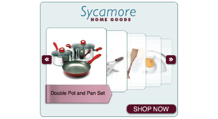 """sycamore home goods """"card stack"""" ad"""