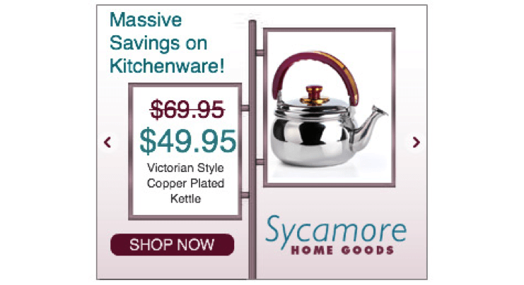 Sycamore home goods - signage ad layout