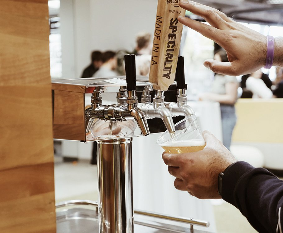 Self-serve cold brew on tap