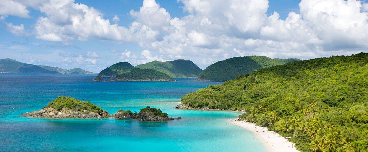 Beautiful island vacation spot