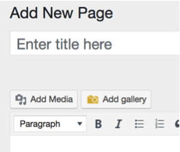 how to implement media into a wordpress page