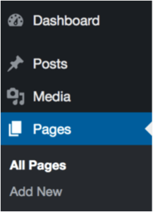 wordpress navigation pages