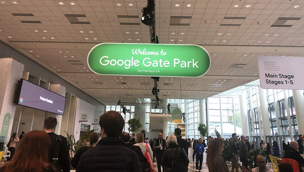 Entrance to Google Marketing Live.
