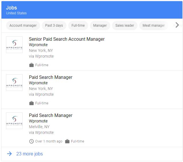 Wpromote job postings