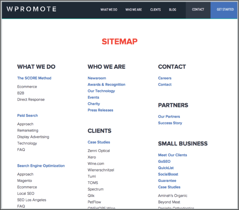wpromote sitemap
