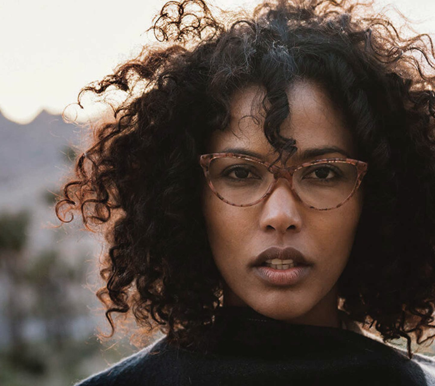 Woman wearing Zenni eye glasses
