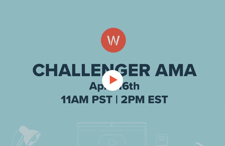 title screen for challenger ama webinar