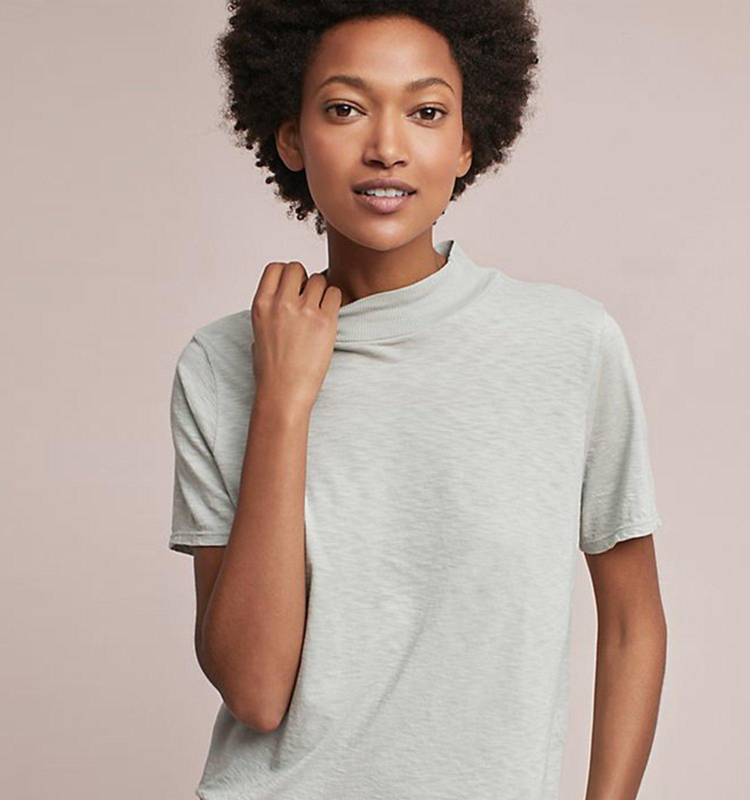 woman wearing michael stars clothing