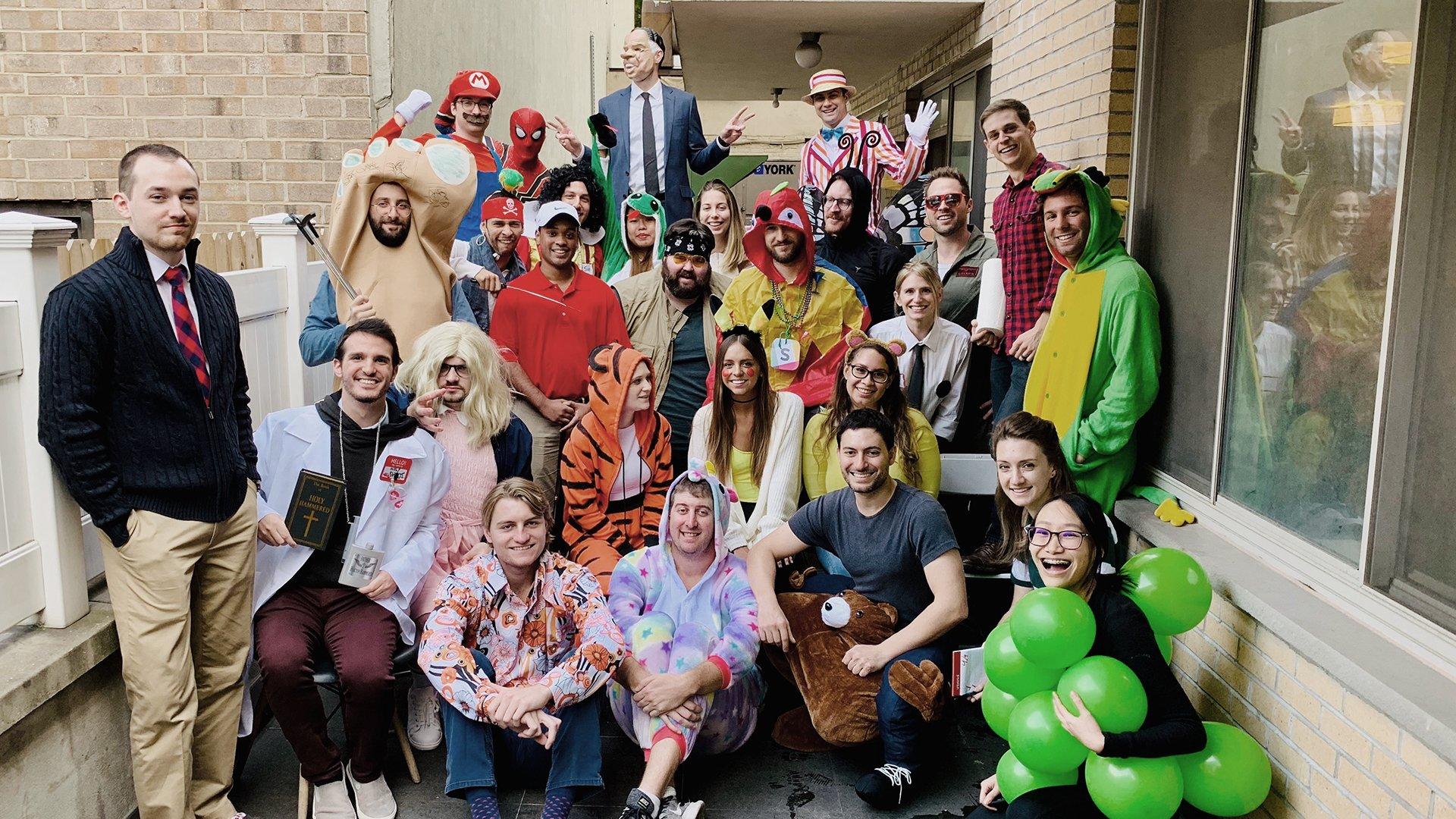 Wpromote team in Halloween costumes