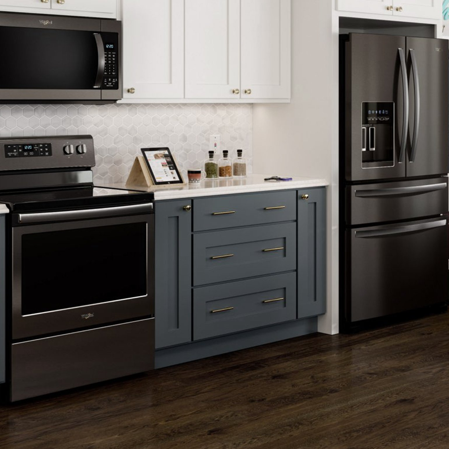 Whirlpool appliances in kitchen
