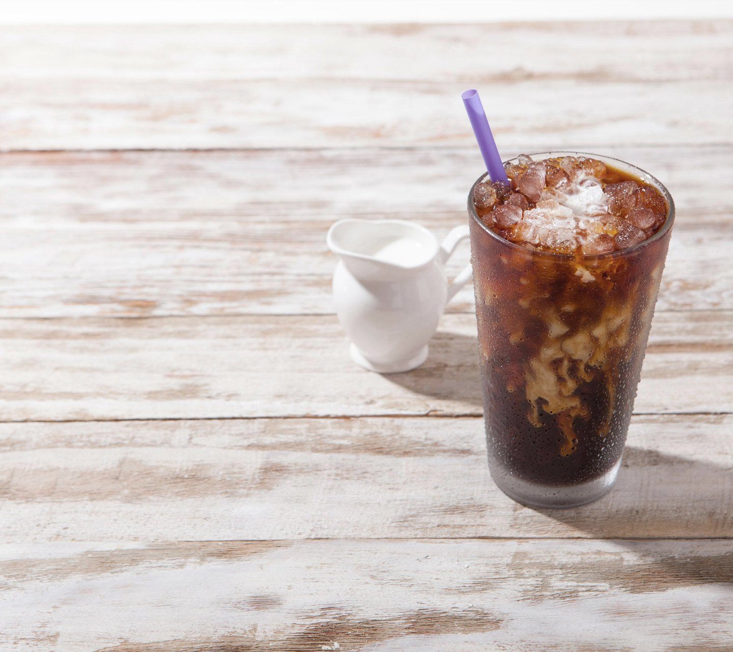 iced coffee and cream from coffee bean