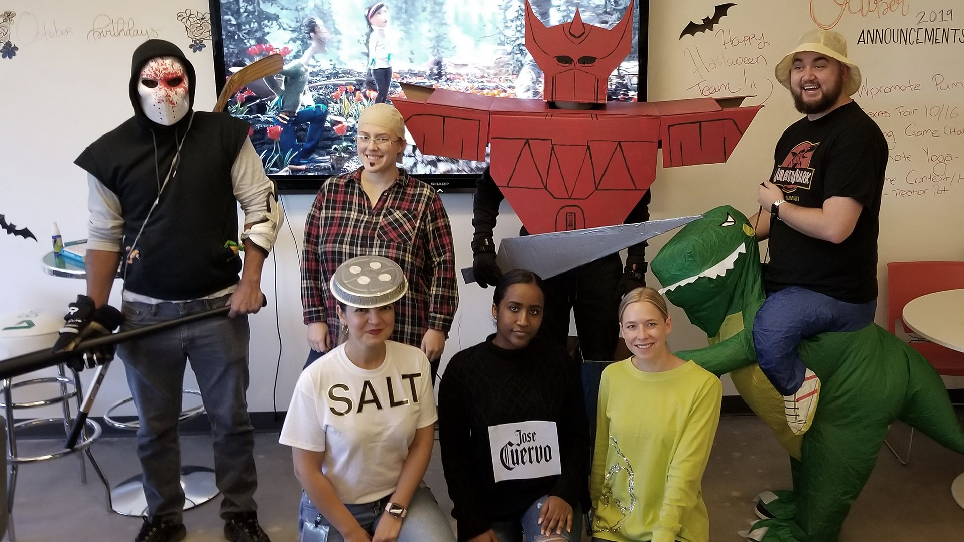 Wpromote team in Halloween costumes