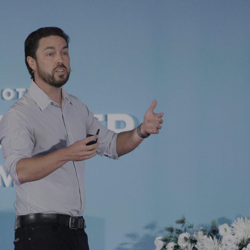 Mike Mothner speaking at Challenger Summit