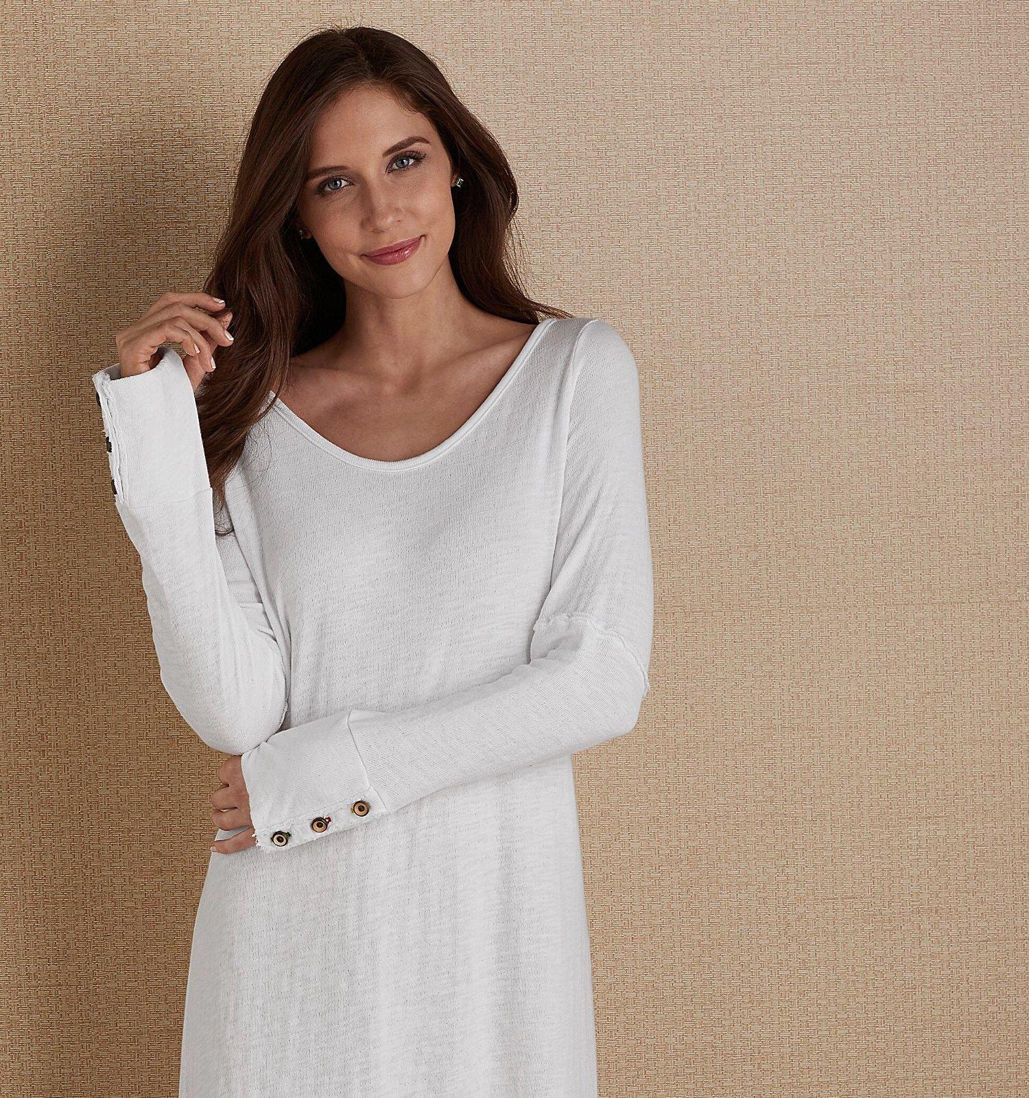 woman modeling soft surroundings clothing
