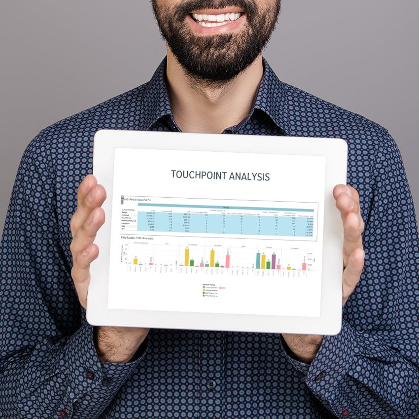 Charts on tablet screen