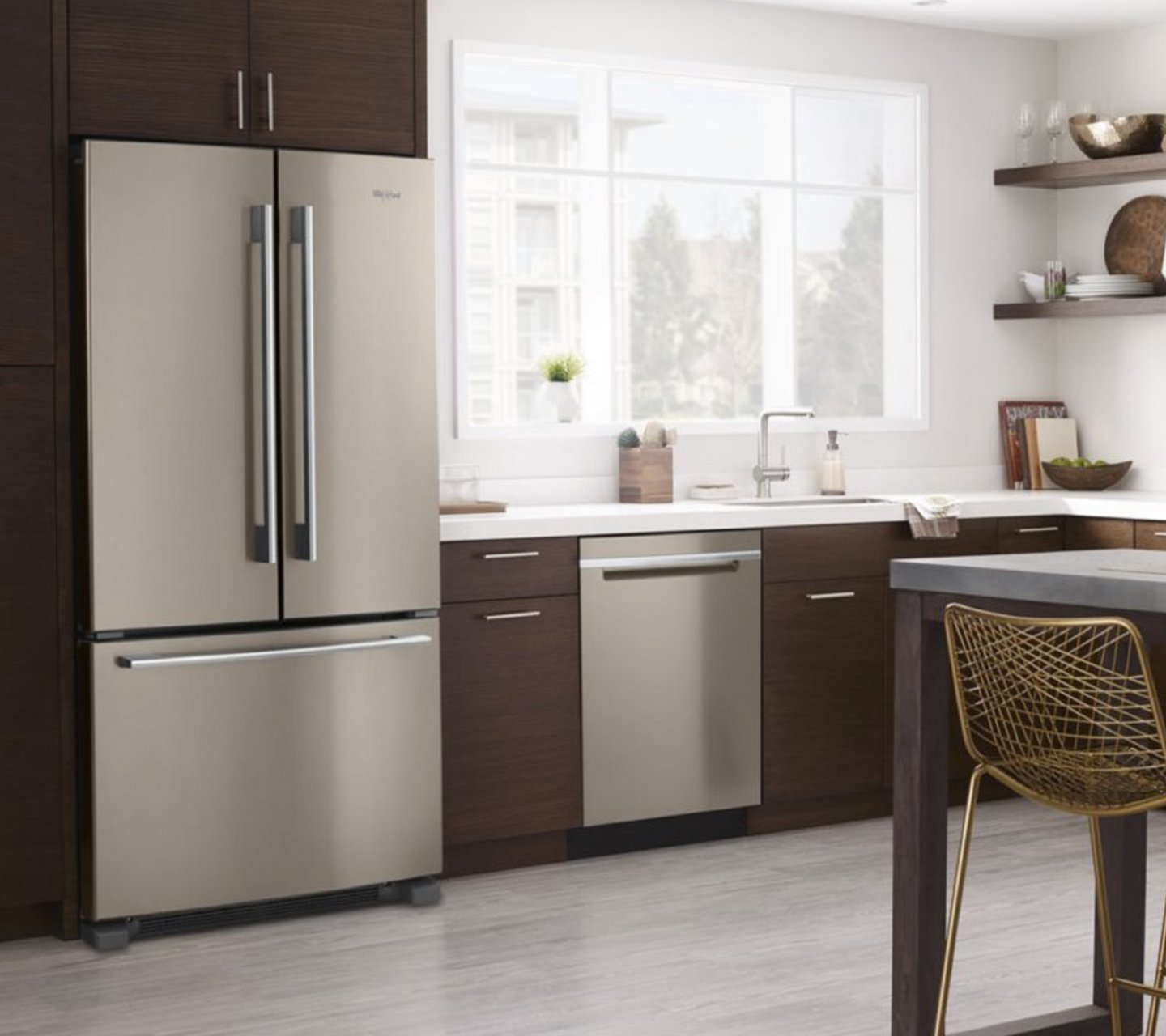 Kitchen with Whirlpool appliances