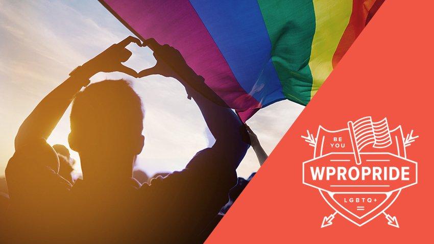 Waving a rainbow flag
