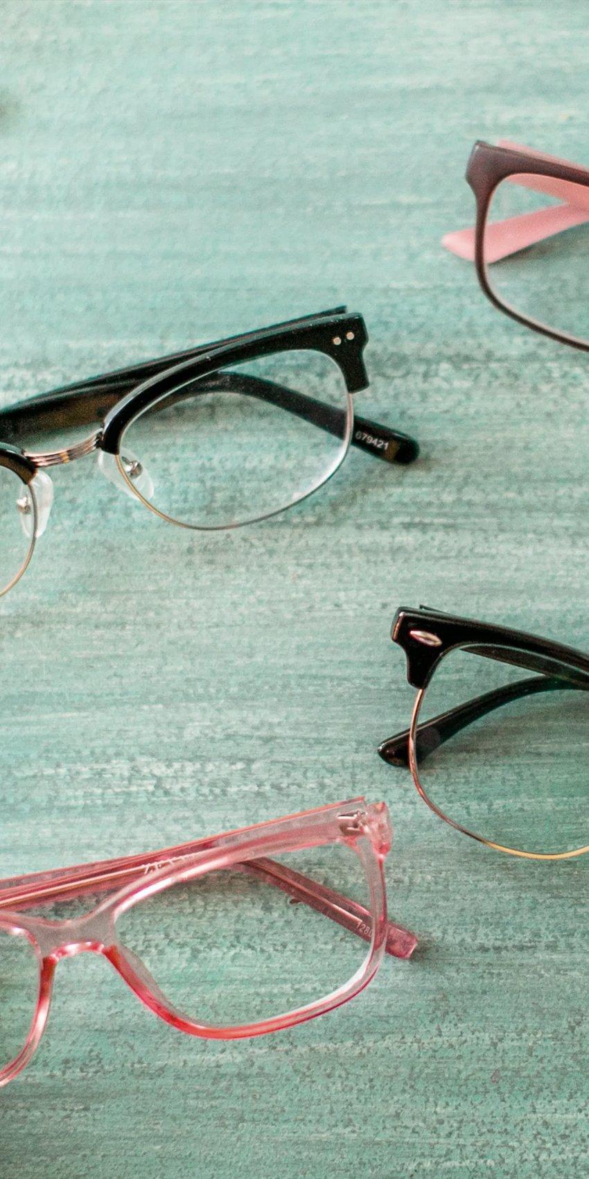 zenni glasses flat lay
