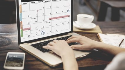 computer featuring H2 digital marketing planning