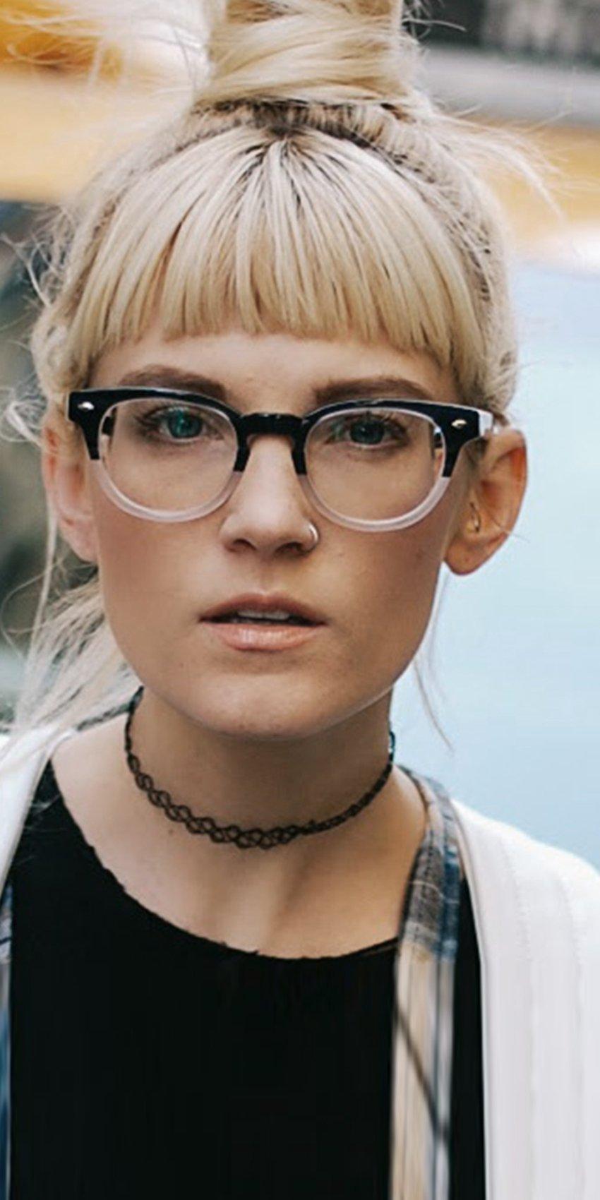 Young woman wearing Zenni glasses