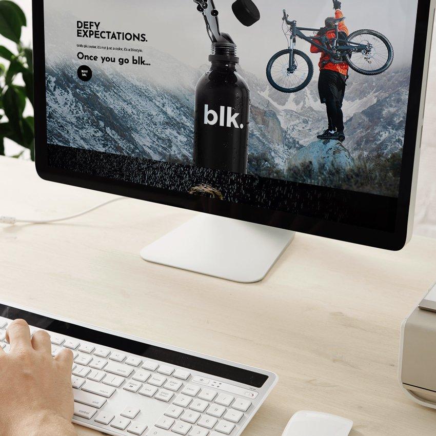 blk water website on computer screen