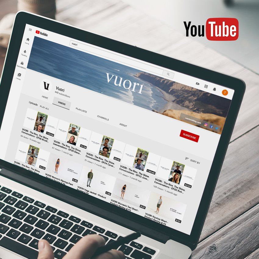 YouTube account on screen