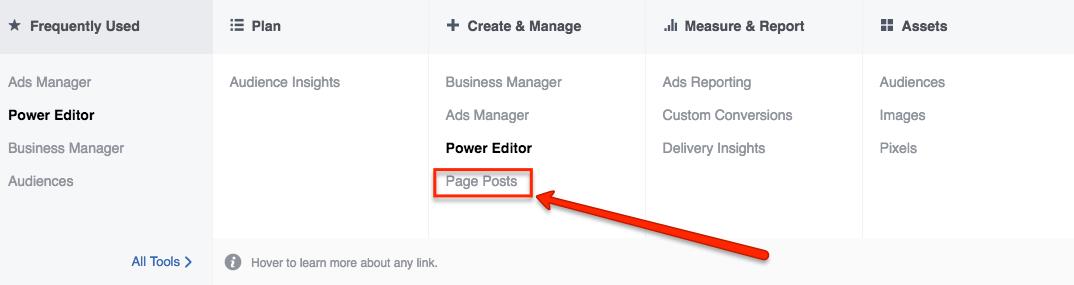 creating dark post