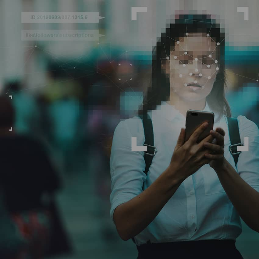 person looking at phone