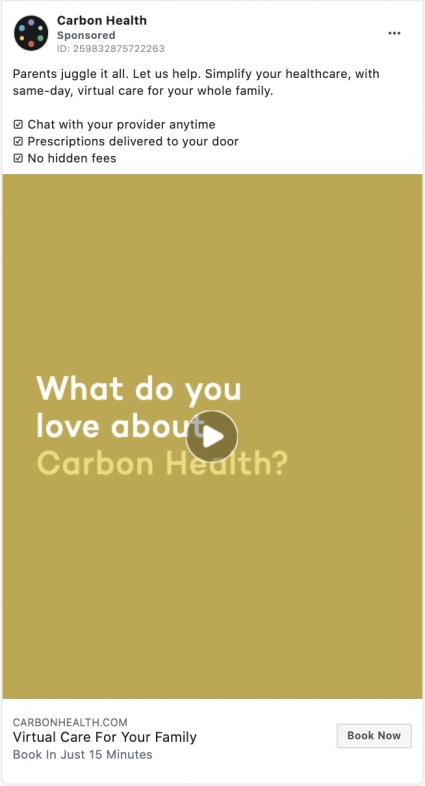 carbon health digital marketing ad