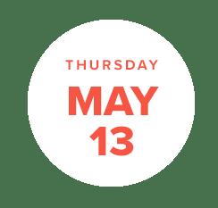 may 13 date badge