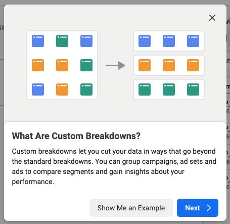 facebook business manager custom breakdowns